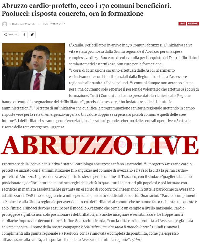 Abruzzo Live 20.10.2017
